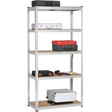 5-Tier Heavy Duty Garage Shelving Unit Shed Storage Shelves Boltless Shelf Rack