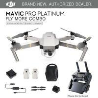 DJI Mavic Pro PLATINUM - Fly More COMBO Drone - 4K Stabilized Camera ActiveTrack