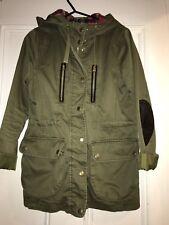Khaki Army Parka Jacket - Topshop, Size 8