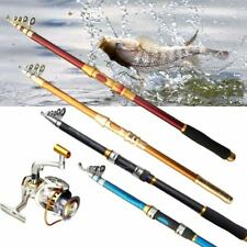 Fishing Rod Pole Carbon Fiber 2.1-3.6m Telescopic Spinning Rods Very Hard New