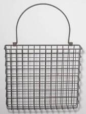 Metal Wire Basket Wall Pocket Arrangement Mail Holder Organizer Country Style