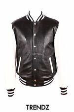Zip Leather Baseball College Coats & Jackets for Men