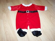 Infant Size Small 0-3 Months Santa Suit Footed Sleeper Costume Holiday EUC