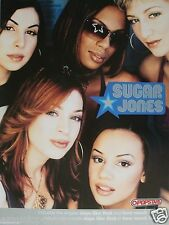 "SUGAR JONES ""POPSTARS"" U.S. PROMO POSTER -R&B Pop Music"