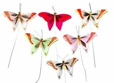 24 Decorative Artificial Feather Butterflies Butterflies Craft Butterfly BF706