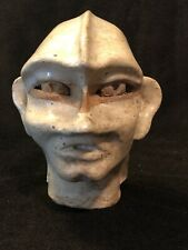 Art Pottery Space Alien Head Face Odd Mohawk Sculpture Roswell Macabre Area 51