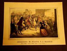 Filippo V entra in Madrid Misteri della Vita dei Borbone La Cecilia Anno 1859