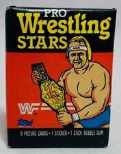 1985 Topps Pro Wrestling Stars Sealed Unopened Wax Pack 9 Cards Hulk Hogan WWF
