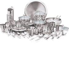 Stainless steel Dinnerware 63 pcs service set matte finish full kitchen dinning