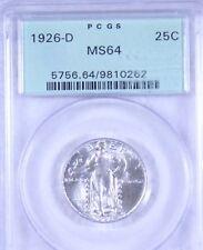 1926-D Standing Liberty Quarter  : PCGS MS64  Blazing White