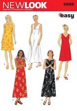 NEW LOOK SEWING PATTERN MISSES' DRESS DRESSES  SIZE S, M, L & XL  6866