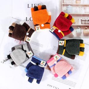 Child Kid Toddler Girl Boy Winter Warm Thick Finger Gloves Knitting Wool Mittens