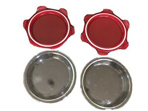 Lock & Lock Glass Pie Pan with Lid Red, 2-Each