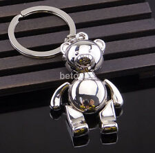 Cute Metal Little Bear Bag Car Keychain Key Ring keyring Keyfob 3D Pendant Gift