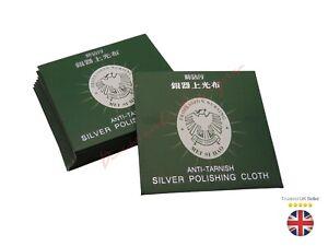 Silver Polishing Cloth Cleaner Jewellery Cleaning Cloth Anti-Tarnish Tool UK B22