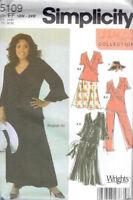 Skirt Pants Top Hat Women's size 18w-24w Simplicity 5109 Sewing Pattern