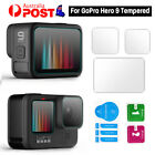 For GoPro Hero 9/10 Black 3in1 Tempered Glass Protective Lens Screen Protector