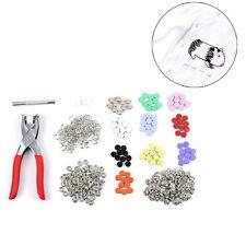 Fastener Prong Snap Pliers Button + 10 Set 100PCS Copper Press Stud DIY Crafts