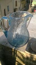 Pichet en verre soufflé bullé Biot