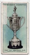 F.A. Football Association Amateur Cup England Soccer 1920s Ad Trade Card