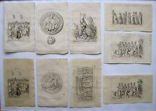 Konvolut Frankreich Mittelalter Collection France VIV.siecle Sammlung Stiche