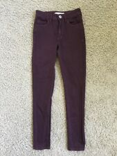 "Women's Bullhead Jeans Size 1 Super High Rise Skinniest Waist 24"" Skinny Maroon"