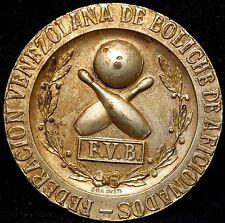 VENEZUELA FEDERACION VENEZOLANO DE BOLICHE 1956 MARACAIBO ZULIA MEDAL.