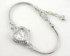 1pcs Fashion Heart Watch Charm Bracelet Fit European Bead 20cm WN23