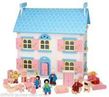 Unbranded Wooden Houses Sets for Dolls