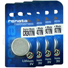 4 x Renata Lithium CR2477N batteries 3V DL2477N BR2477N Coin cell EXP:2024