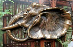 ORIGINAL ANTIQUE BRONZE TRAY ASHTRAY ELEPHANT EARLY XX th. C.