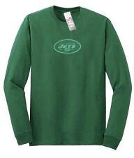 New York Jets NFL Reebok Sideline Green Long Sleeve Shirt Gray Fade Logo Men 2XL