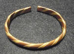 Copper and Brass Metal Wrap Bracelet bangle cuff