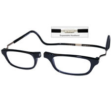 CliC +1.75 Diopter Magnetic Reading Glasses: Expandable - Black