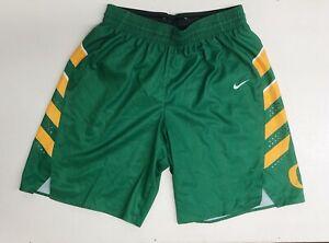 Nike Women's M Oregon Ducks Hyperelite Playmaker Shorts Green Yellow 802343