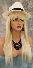 100% Heat Friendly Wig Long Straight  SLINKY STRAIGHT COLOR #613 BLOND 1019