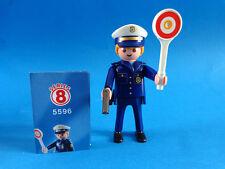 Playmobil  Figures Serie 8 Policia con pistola Policeman Polizist  5596