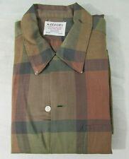 Arrow Contour Tailored Sanforized Vintage Button-Up Shirt Plaid 100% Cotton Med.