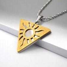 """Plata Oro Egipto Pendientes Colgante Collar Cadena Joyería Egipcia 24"""" para hombre"""