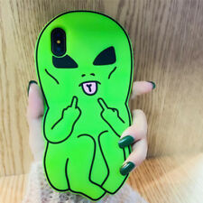 3D Middle Finger Alien Soft Phone Case For iPhone 12 11 Pro Max XR XS X 6 7 8 SE