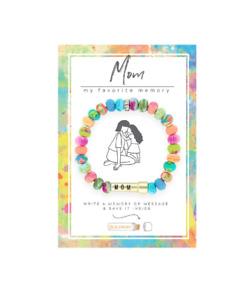 NEW JILZARA Clay Beads MOM MOTHER MESSAGE BOX MULTI COLOR BEAD Petite Bracelet
