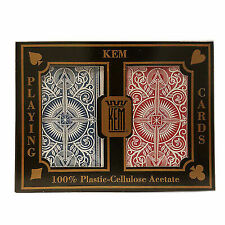 KEM Arrow Playing Cards 2 Deck Set Red and Blue Bridge Size Standard Index N