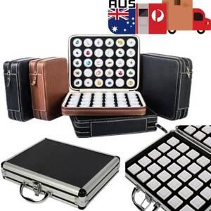 60X Gem Diamond Gemstone Display Collection Storage Box Aluminum / Leather Case