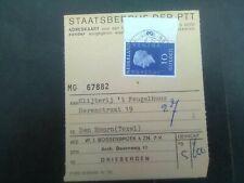 Nederland 958 op adreskaart PTT