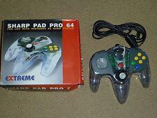 NINTENDO 64 N64 Controlador en Claro Nuevo & Control De Juegos Gamepad! sin Usar! Pad En Caja