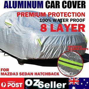 Aluminum Car Cover Waterproof Dust Sun Protect Guards For Mazda3 Sedan Hatchback