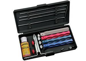Lansky Universal Schleifset Messerschärfer schwarz mit massiver Klemme (LKUNV)