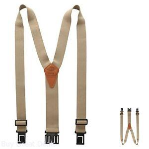 Dickies Men's Perry Suspender, Beige, One Size, Adjustable, New