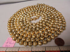 "Christmas Garland Mercury Glass Gold 94"" Long 3/8"" Beads #Al14 Vintage"