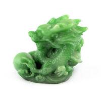 Chinese Horoscope Zodiac Dragon Statue Figurine Feng Shui Animal Jade Color